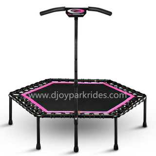 DJ-RP05 Exercise round jumping bed with handrail
