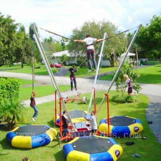DJBTR34 4 Persons inflatable Trampoline Bungee with trailer