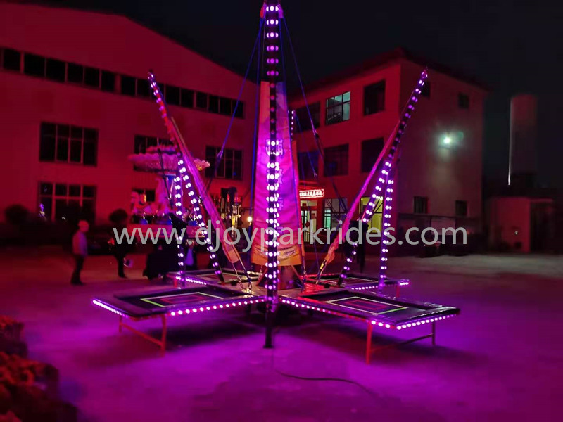 DJBTR41 Cheap mobile 4 persons bungee with colorful lights