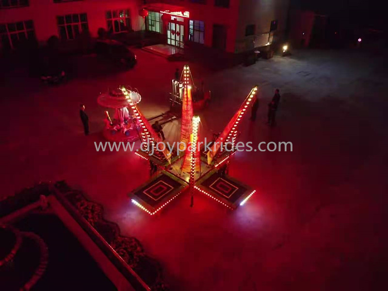DJBTR40 Colorful 4 persons bungee with night lights