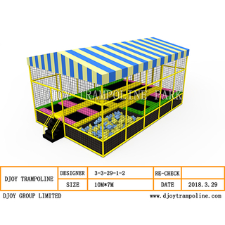 DJ-TP19 Trampoline With Roof